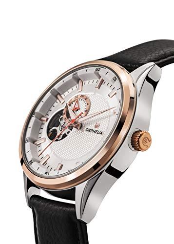 ORPHELIA, Herren Analog Automatik Uhr mit Leder Armband