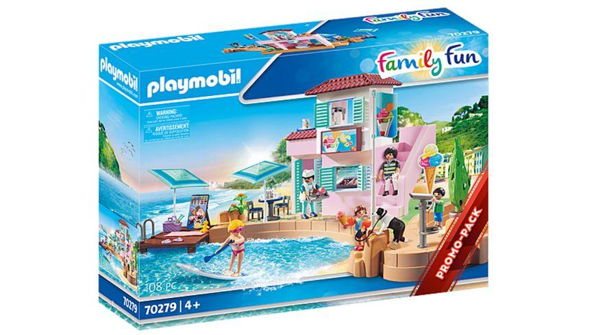 (Müller inkl Versand) PLAYMOBIL 70279 - Family Fun - Eisdiele am Hafen für 19€ + Versand