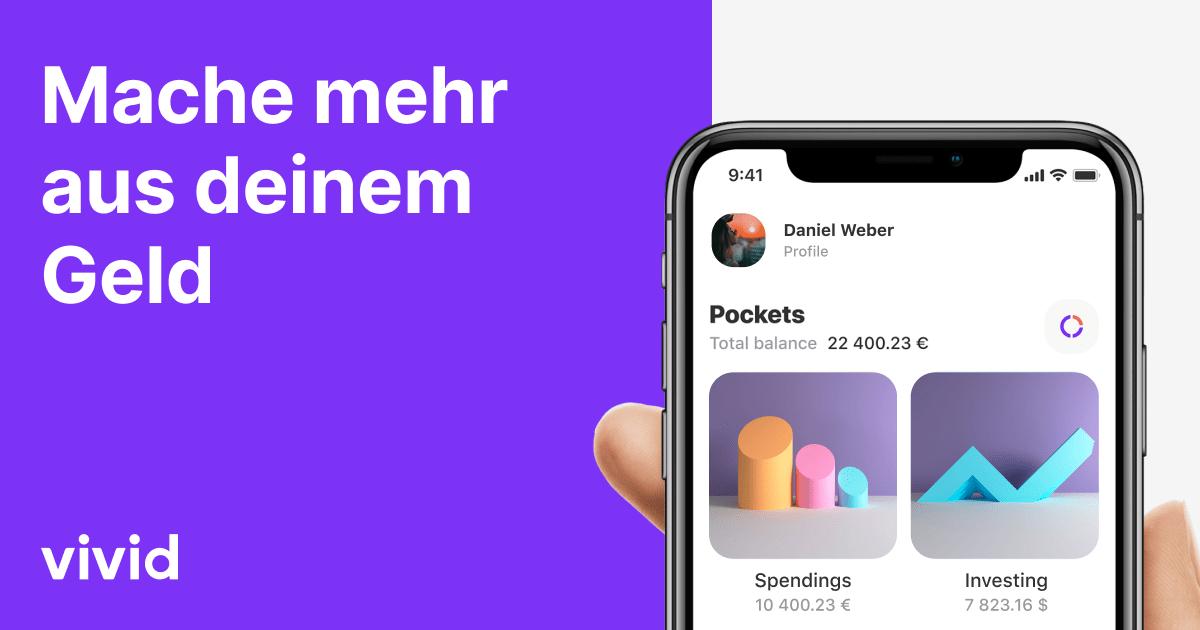 Vivid Money VISA + Girokonto · 50€ Cashback-Budget pro KwK (z.B. Aldi, Aral, Bauhaus, Edeka, dm, Shell) · AKTION: 3 × KwK = 200€ Prämie