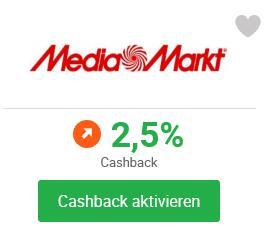[iGraal] 2,5% Cashback statt 1% bei Media Markt & Saturn
