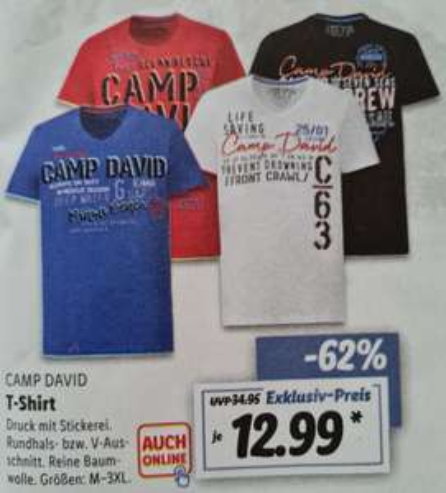 CAMP DAVID T-Shirt 12,99€ statt 34,95€ und SOCCX T-Shirt 16,99€ statt 49,95€ Filiale und Online ab 19.04 Lidl