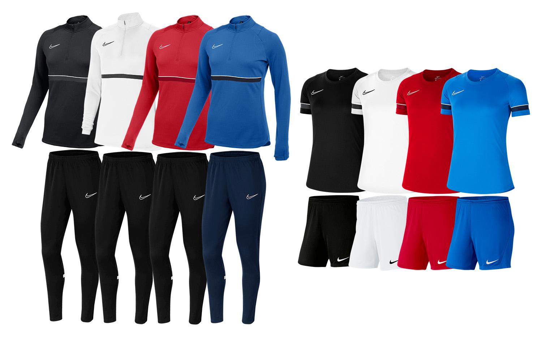 Nike Damen Trainingsset Academy 21 (Shirt, Short, Oberteil, Hose)