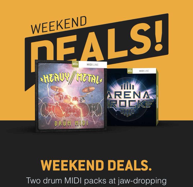 [Musik / Drum / MIDI] Toontrack Weekend sale Heavy Metal und Arena Rock Midi