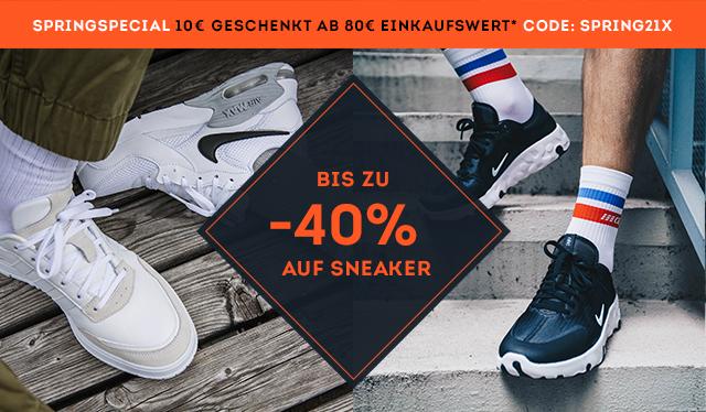 SportScheck AKTION - BIS ZU -40% AUF SNEAKER + 10€ ab 80€ EKW