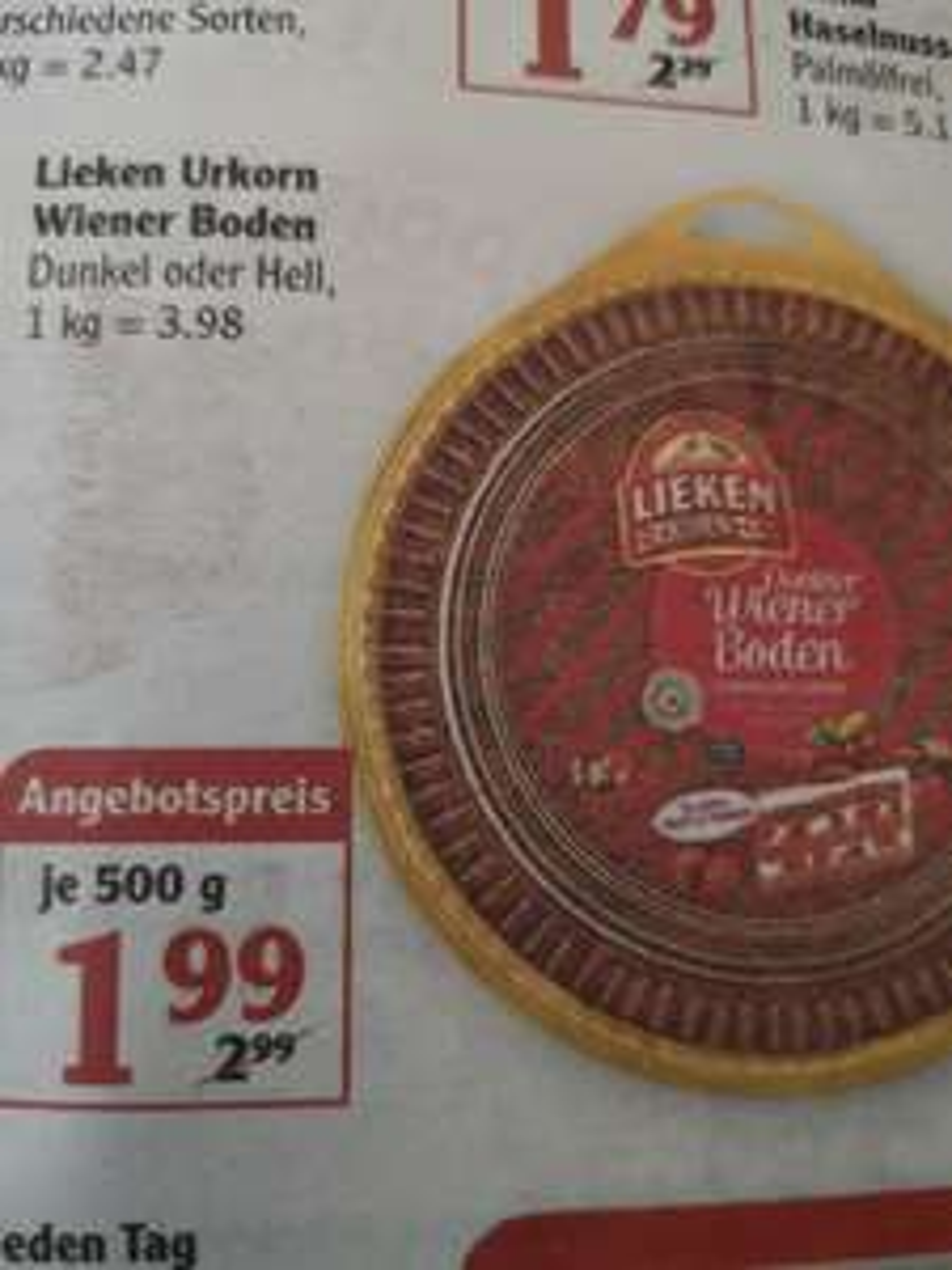 Globus Dutenhofen Wiener Boden 3-lagig geschnitten