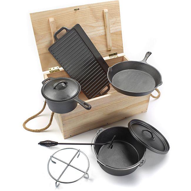 El Fuego AY 466 Dutch Oven Set 7-teilig für 55,88€ [Netto Online+Newsletter]