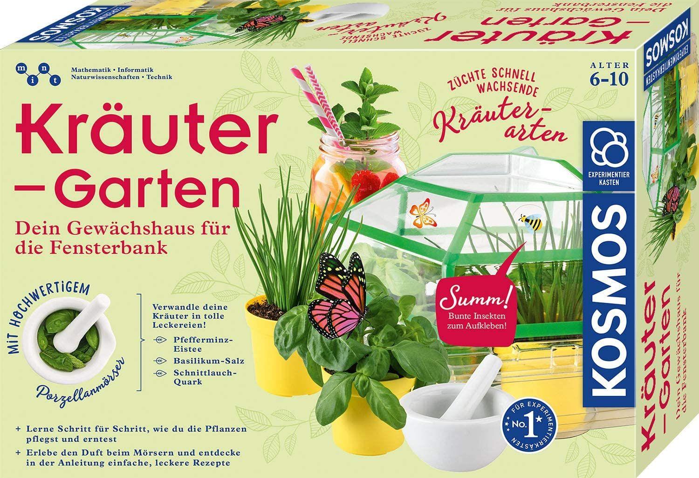 [Prime] KOSMOS 632090 - Kräuter-Garten, Züchte duftende Kräuter, Gewächshaus und Mörser, Experimentierkasten, ab 6