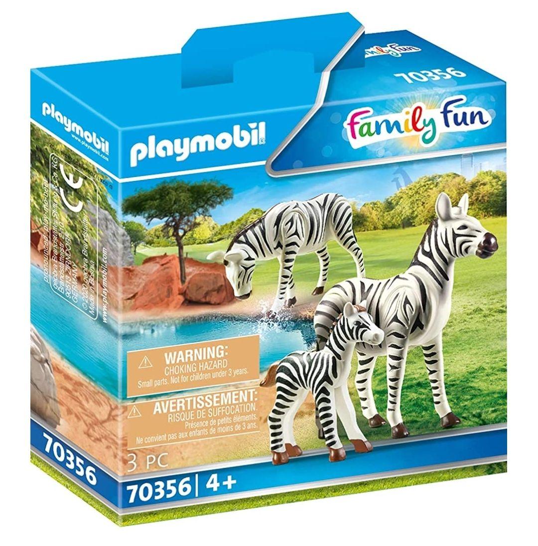 Playmobil Family Fun - 2 Zebras mit Baby (70356) - Prime