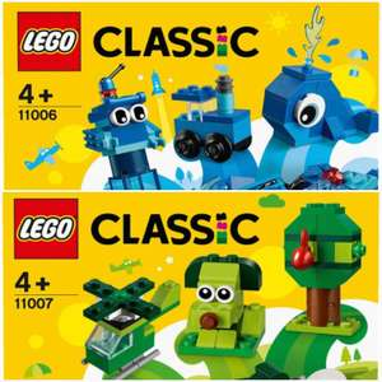 [Abholung Click&Collect] LEGO 11006 11007 Blaues und/oder Grünes Kreativ-Set