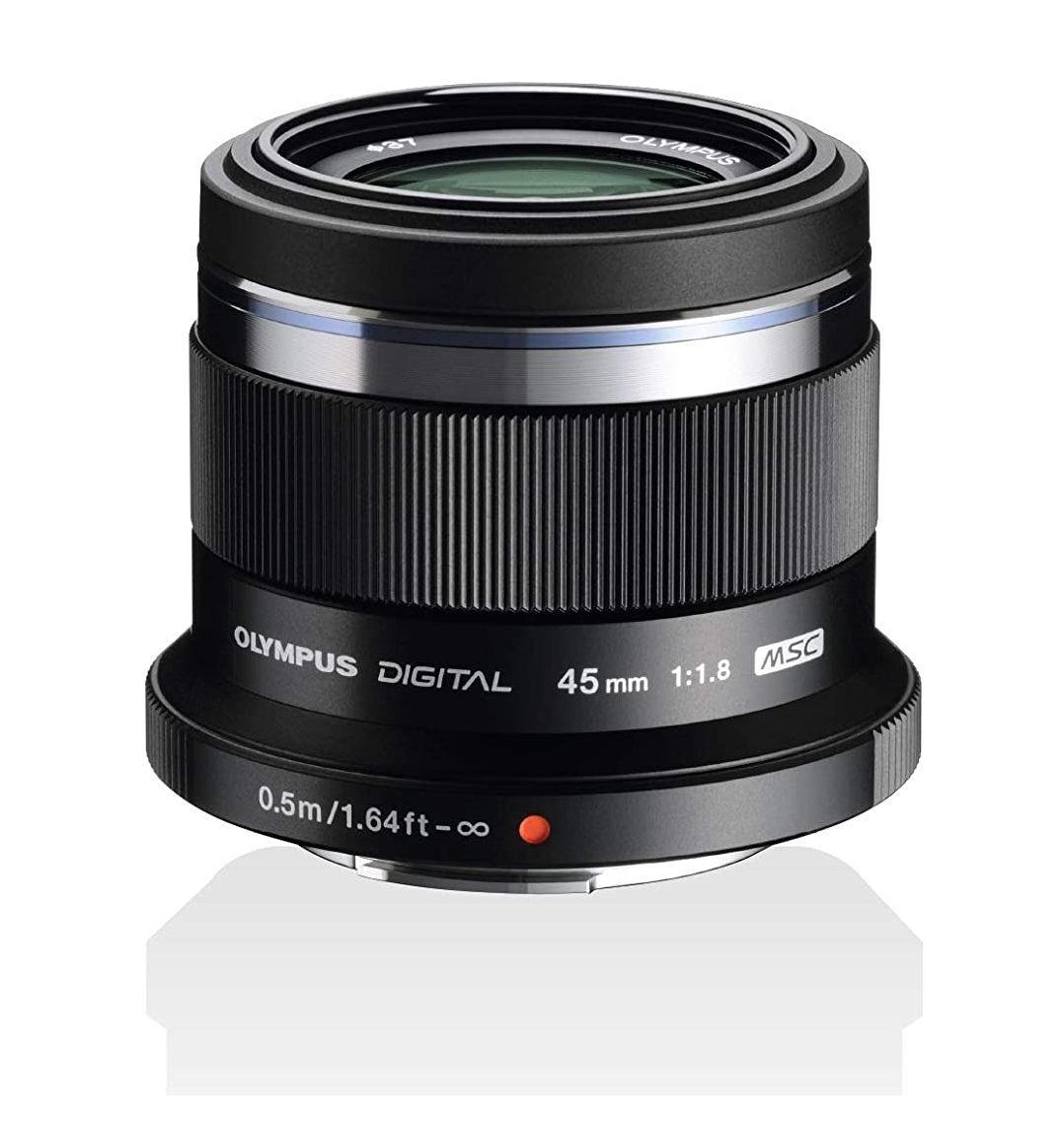Olympus M.Zuiko Digital 45mm F1.8 Objektiv, lichtstarke Festbrennweite, geeignet für alle MFT