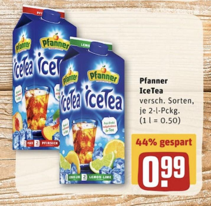 REWE Pfanner IceTea Eisteee 2 Liter mit Payback für effektiv 92 Cent möglich