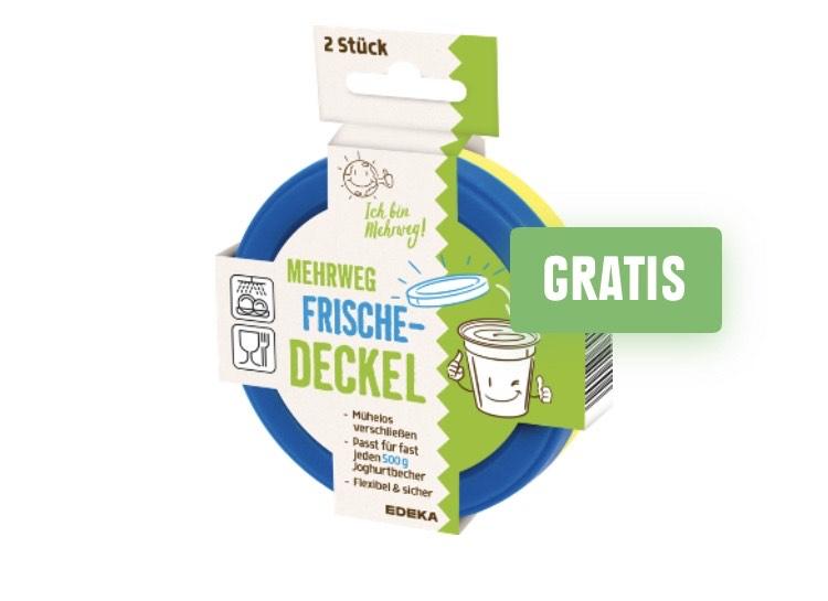Gratis Mehrweg Frische Deckel im Wert von 0,99€ bei einem Einkaufswert von 5€ (Lokal) Edeka Region Nordbayern-Sachsen-Thüringen