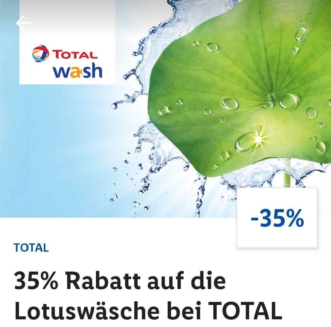 35% Rabatt auf die Lotuswäsche bei Total durch LIDL Plus