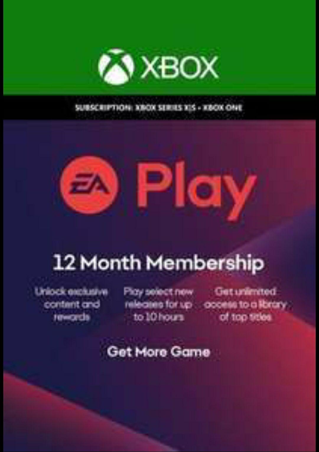 EA Play 12 Monate - Xbox One