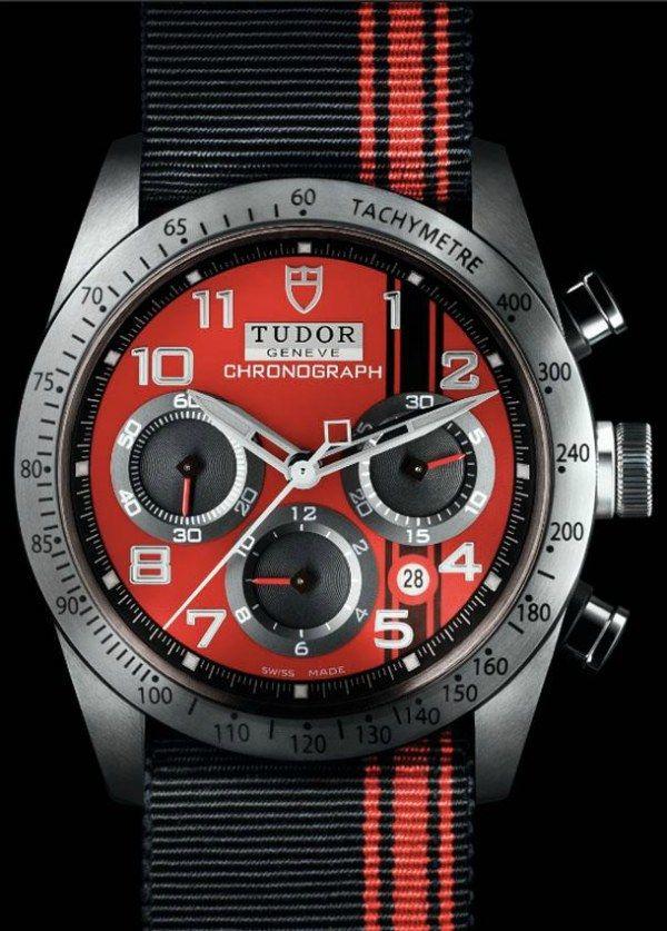 Tudor Fastrider Ducati Edition Automatikuhr Chronograph - 42mm - Kaliber ETA 7753 - im Set mit Lederband + NATO-Strap