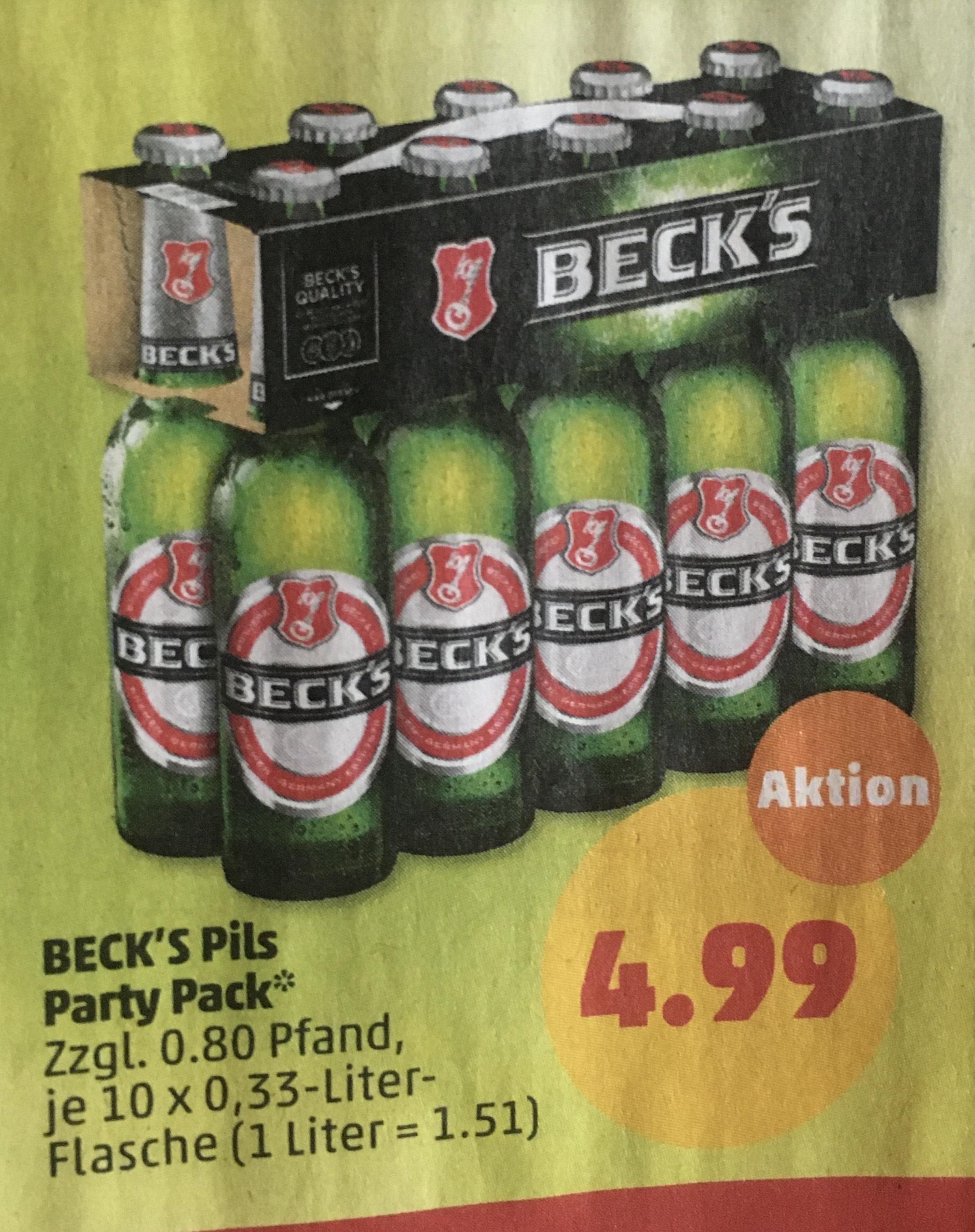 Becks Pils 10x0,33l Pack Penny