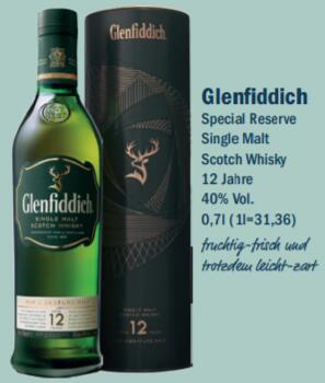[Lokal Oldenburg aktiv/irma] Glenfiddich 12 Jahre 40 % 0,7l Whisky