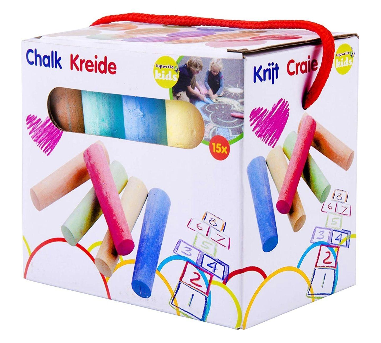 [amazon prime] Eddy Toys - Straßenkreide - Set mit 15 Stück Inhalt bei 5 Farben