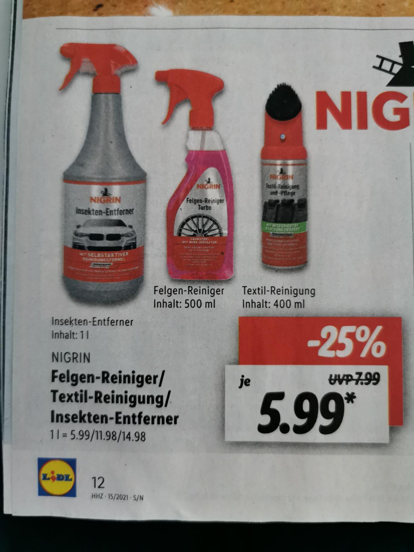 NIGRIN Felgenreiniger im Angebot bei LIDL