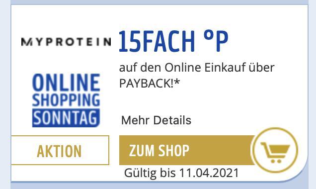 15fach Payback Punkte auf MyProtein Bestellungen + 55% Rabatt auf 200 Produkte