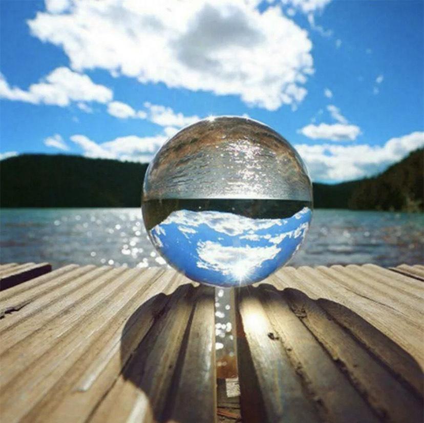 60mm Fotokugel Glaskugel Fotografie Glas Kristallkugeln Crystal Ball