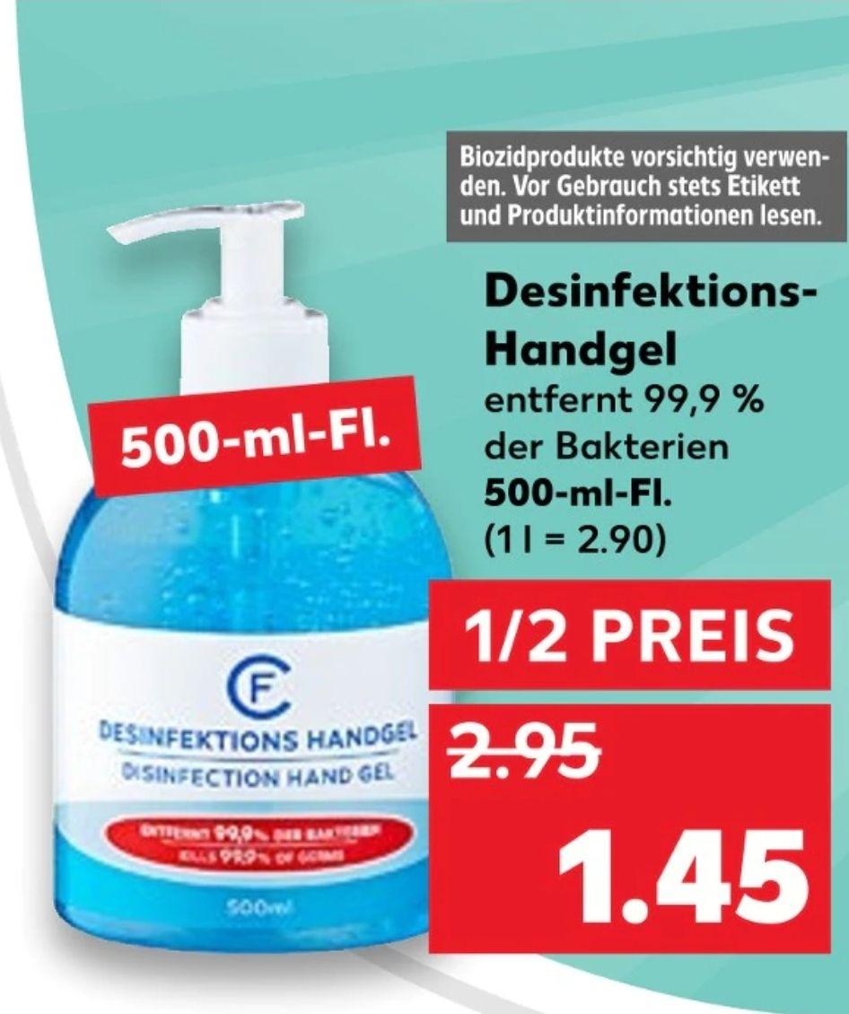 (Kaufland) Desinfektionshandgel [500ml] 1/2 Preis