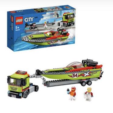 LEGO City - 60254 Rennboot-Transporter