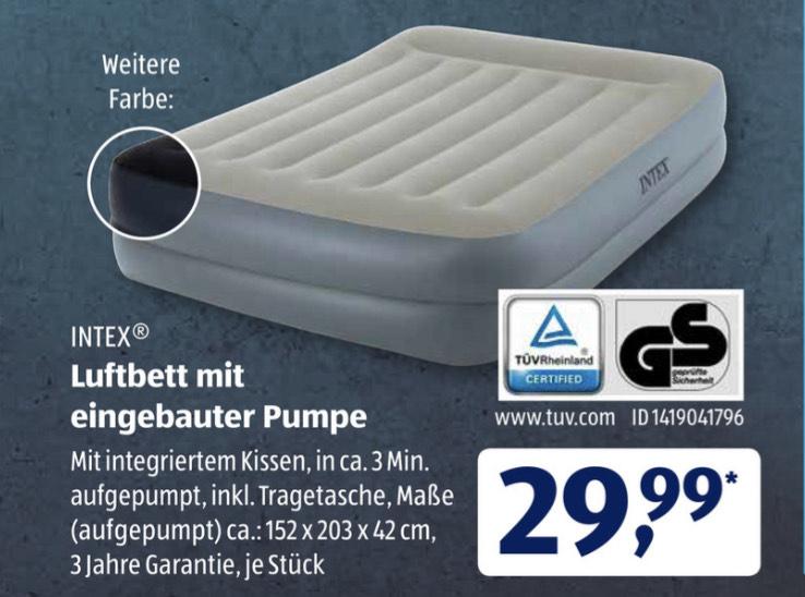 [Aldi Süd] Intex Luftbett mit eingebauter Pumpe