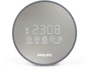 Philips Audio Radiowecker DR402/12 Digitaler Radiowecker (Sleep Timer, USB Ladefunktion, 2 Weckfunktionen) TADR402/12 Silber [Cyberport]