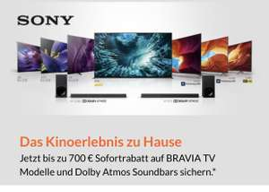 Expert/Euronics/Saturn Sofortrabatt auf Sony LED|OLED TV, 85XH9505 2.125€, 75XH9299 1.199€, 65XH9299 813€, 65A87 1.499€, 55XH9299 699€