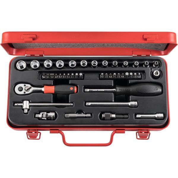 HOLEX Steckschlüssel-Sortiment 1/4 Zoll 42-teilig oder 3/8 Zoll 26-teilig