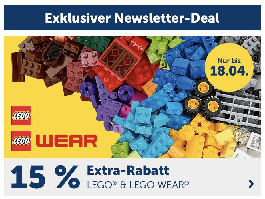 myToys Newsletter-Deal: 15% Extra-Rabatt auf LEGO und LEGO WEAR - z.B. Lego 21318 Baumhaus