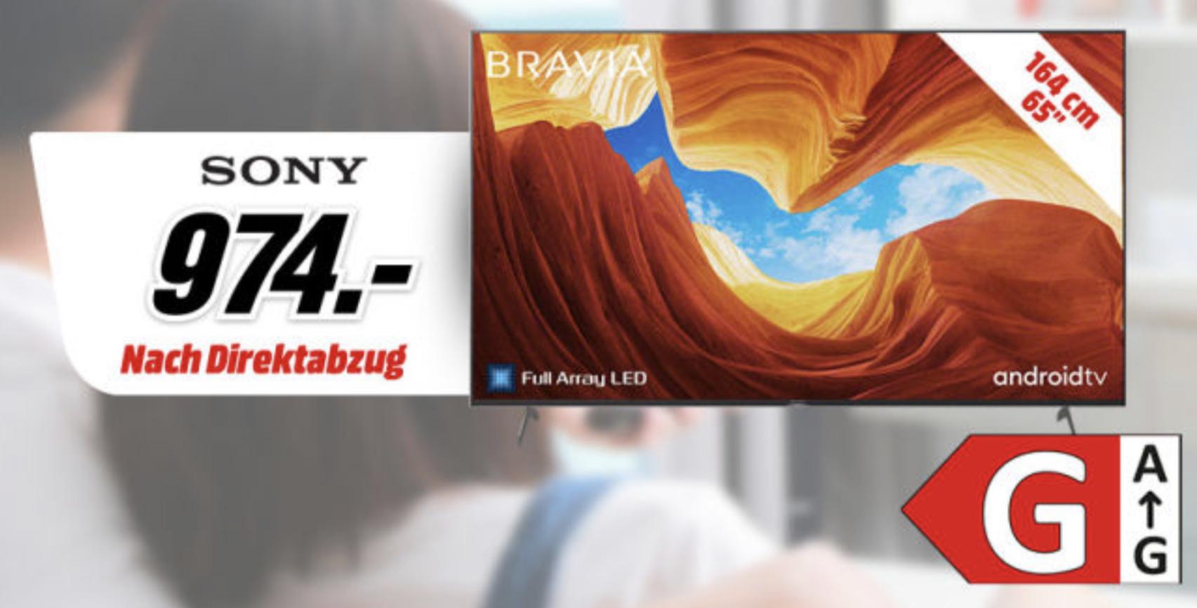 SONY KE-65XH9005 / KE-65XH9077 65 Zoll 164cm FALD 4K UHD SMART TV schwarz o. silber für je 964€ inkl. Versandkosten