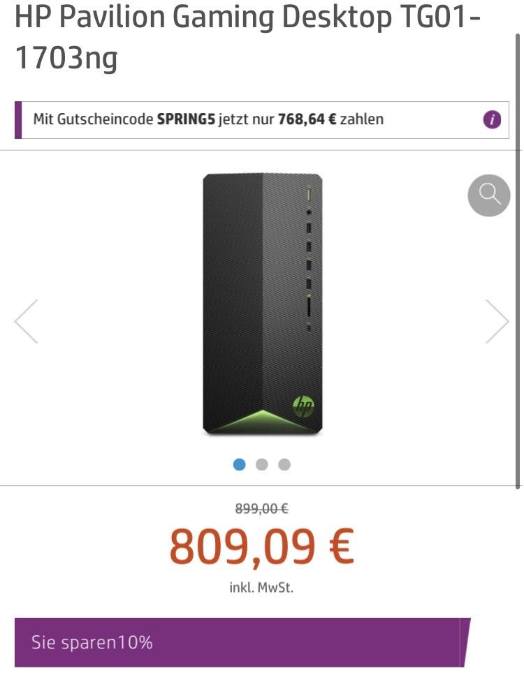 (Corporate Benefits) HP Pavilion Gaming Desktop