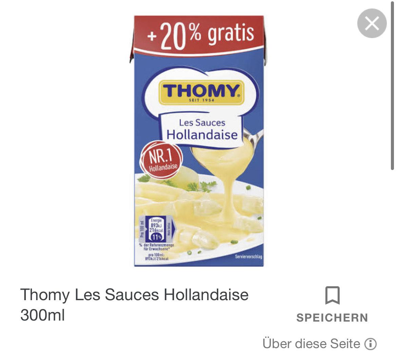 Thomy Sauce Hollandaise versch. Sorten NP Penny Rewe Ost+Nord