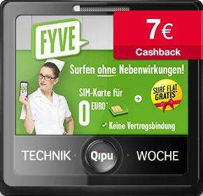 FYVE: SIM-Karte + 7€ Cashback + 1 Monat gratis surfen bei 5€ Kosten