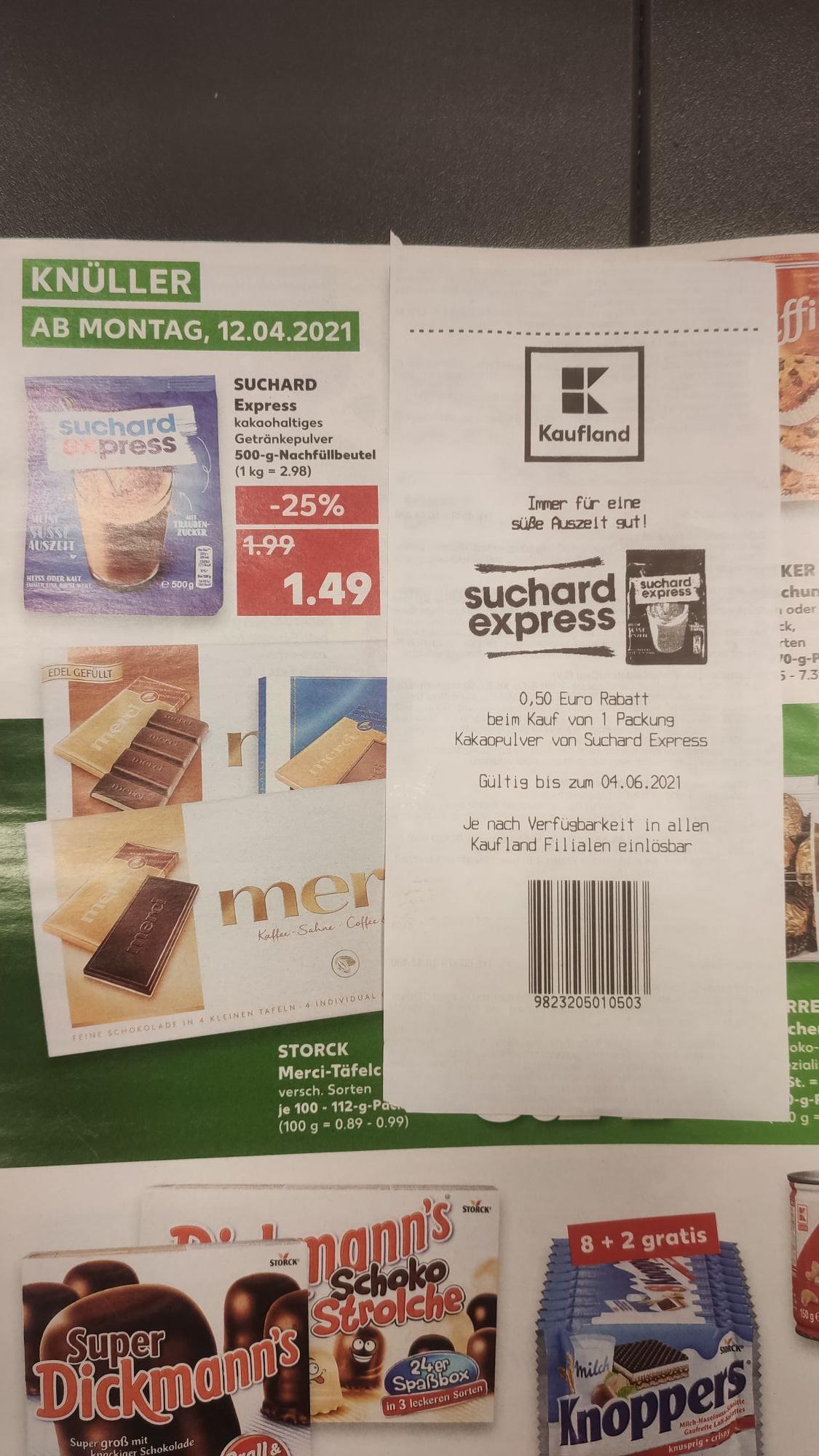 [Kaufland] Suchard Express Kakaopulver 500g für 0,99€ [nur noch mit Diskussion]