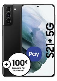 [Young MagentaEINS] Samsung Galaxy S21+ mit Watch Active 2 für 93,99€ ZZ mit Telekom Magenta Mobil M (24GB LTE I 5G) + 120€ Cashback + 0€ AG