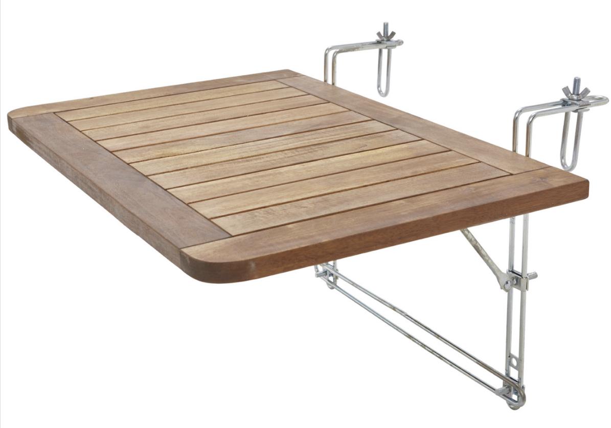Balkontisch aus Akazienholz 40x60cm Helena für 20,93€ inkl. Versandkosten