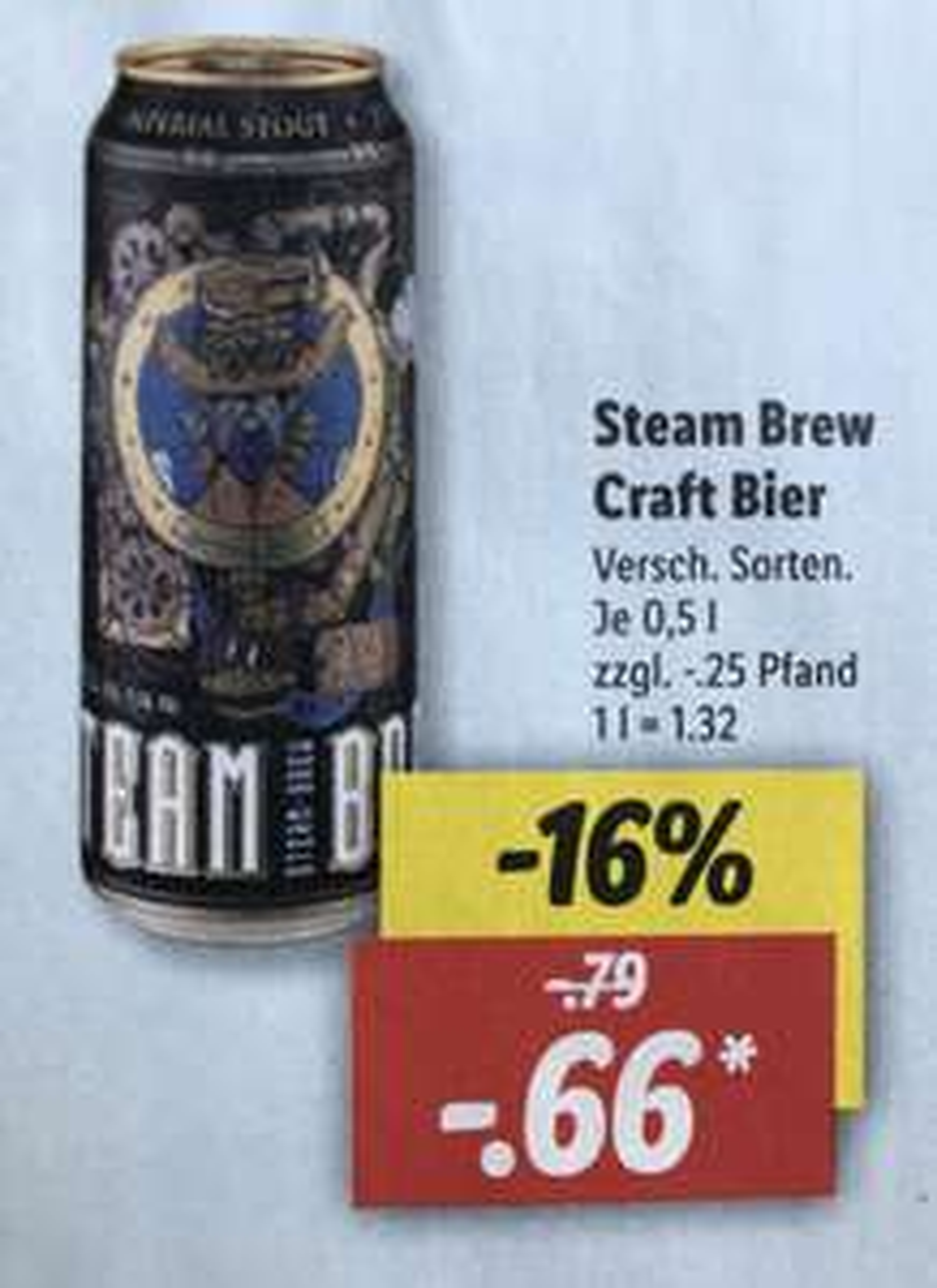 [Lidl] Steam Brew Craft Bier 0,5l verschiedene Sorten ab 23.04.2021