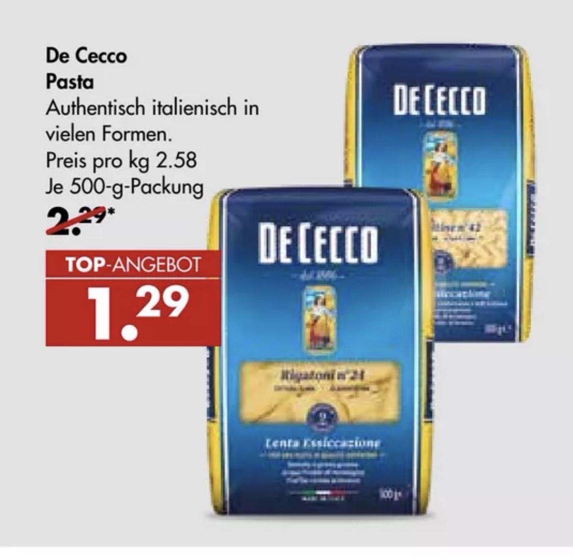 De Cecco Nudeln Pasta - versch. Sorten Karstadt Kaufhof