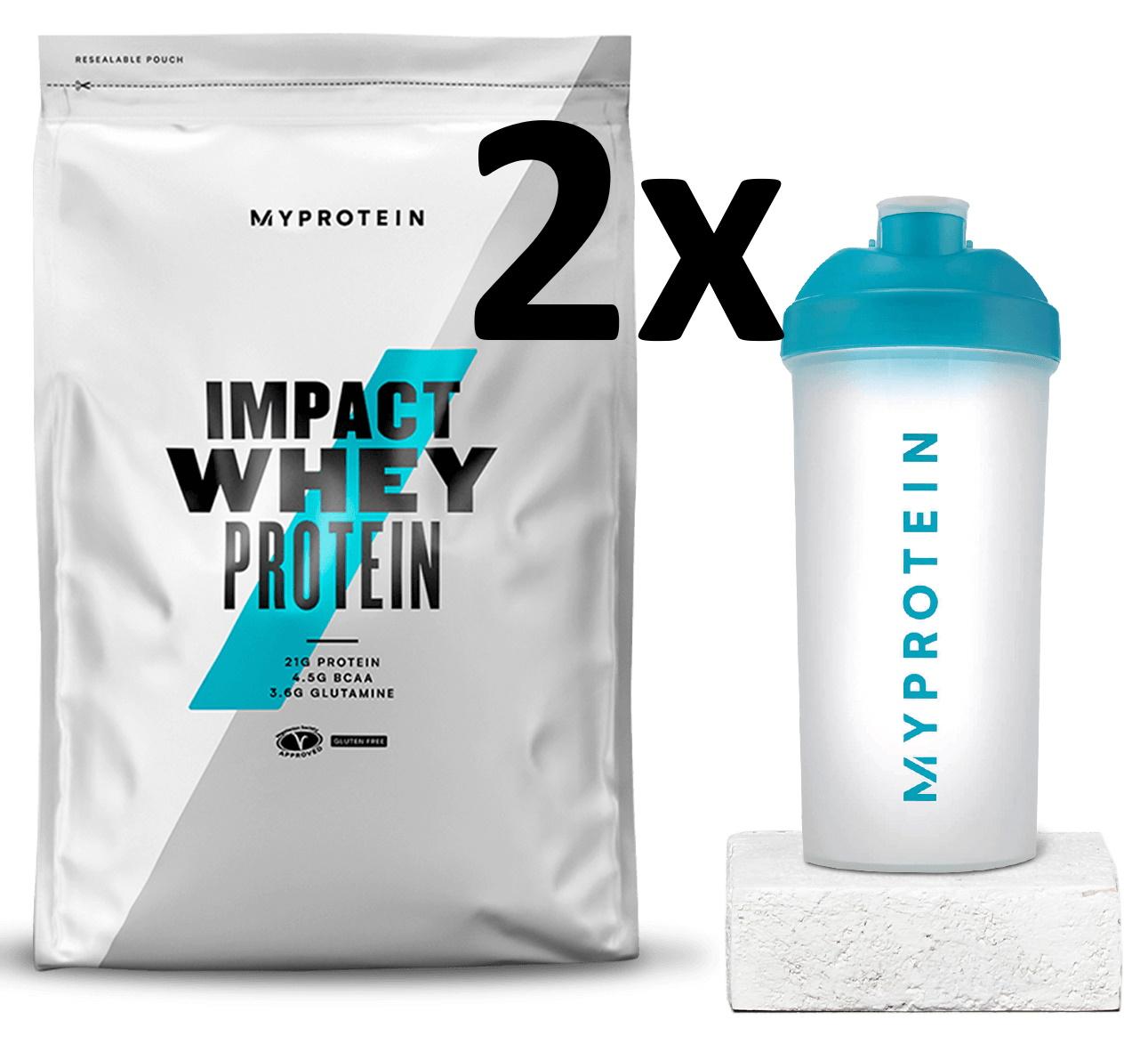 2x Myprotein Starter Pack (2x 1kg Impact Whey Protein + 2 Shaker) für 19,78€ inkl. Versand