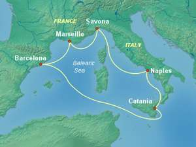 Silvester-Kreuzfahrt: 7 Tage westliches Mittelmeer mit der Costa Diadema ab Barcelona (449€ p.P.)
