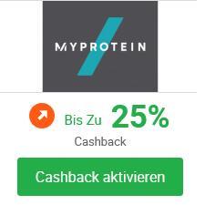 [iGraal] Myprotein 25% Cashback + 42% Rabatt auf alles (kombinierbar)