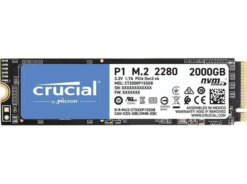 Crucial P1 2TB 3D NAND NVME PCIe M.2 SSD für 169€ inkl. Versandkosten