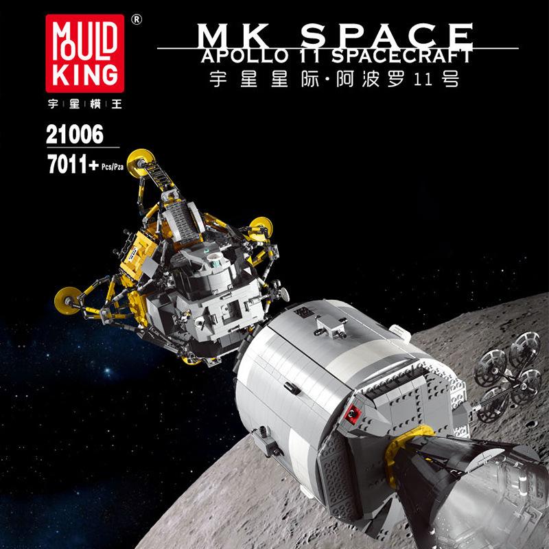 MOULD KING 21006 | Technic Apollo Spacecraft | 7018 Teile | Klemmbausteine