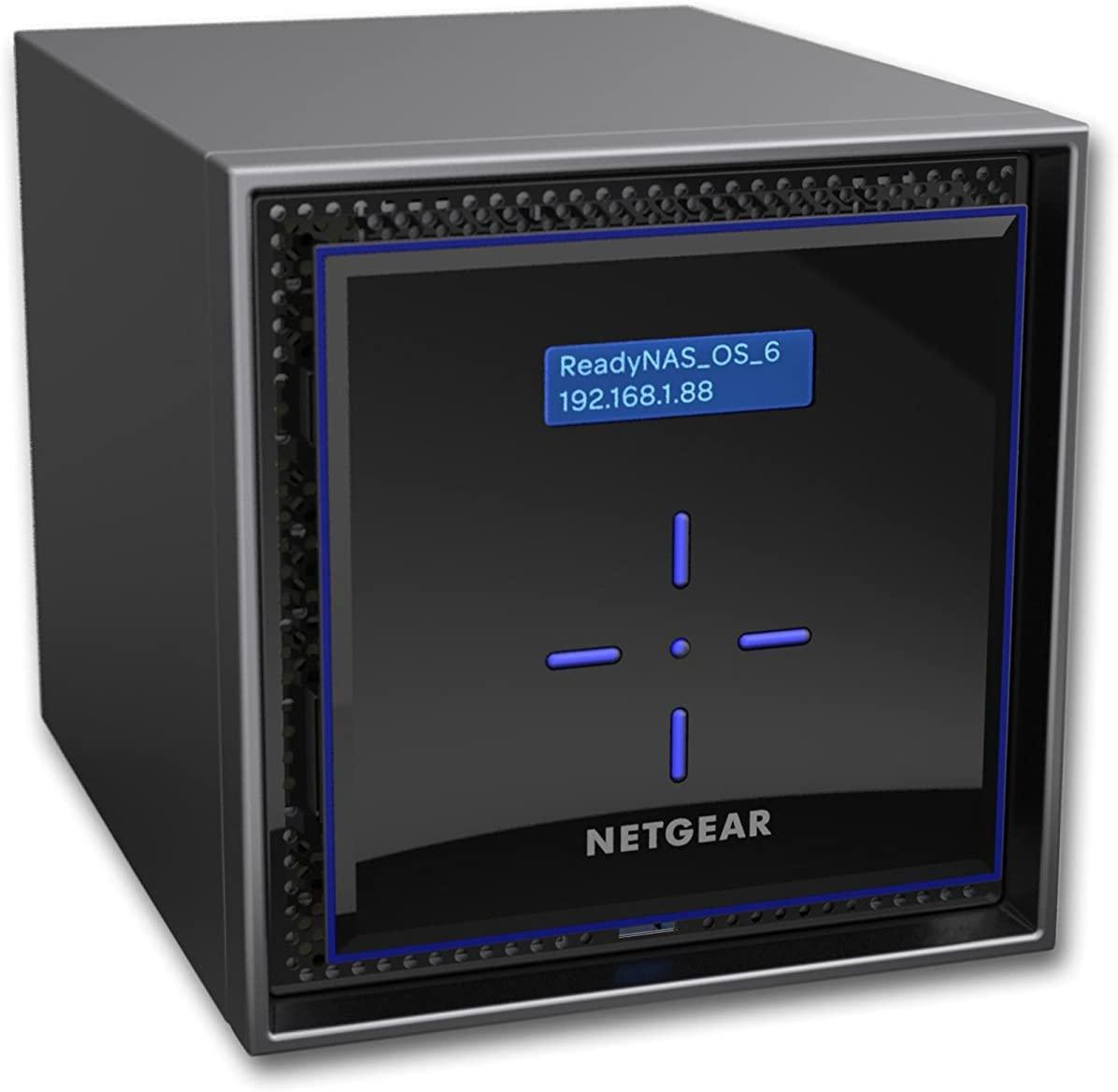 NETGEAR ReadyNAS 424 Diskless Netzwerkspeicher (NAS-Server, 4 Schächte, RAID 0, 1, 5, 6, 10, JBOD, Gigabit Ethernet, iSCSI)