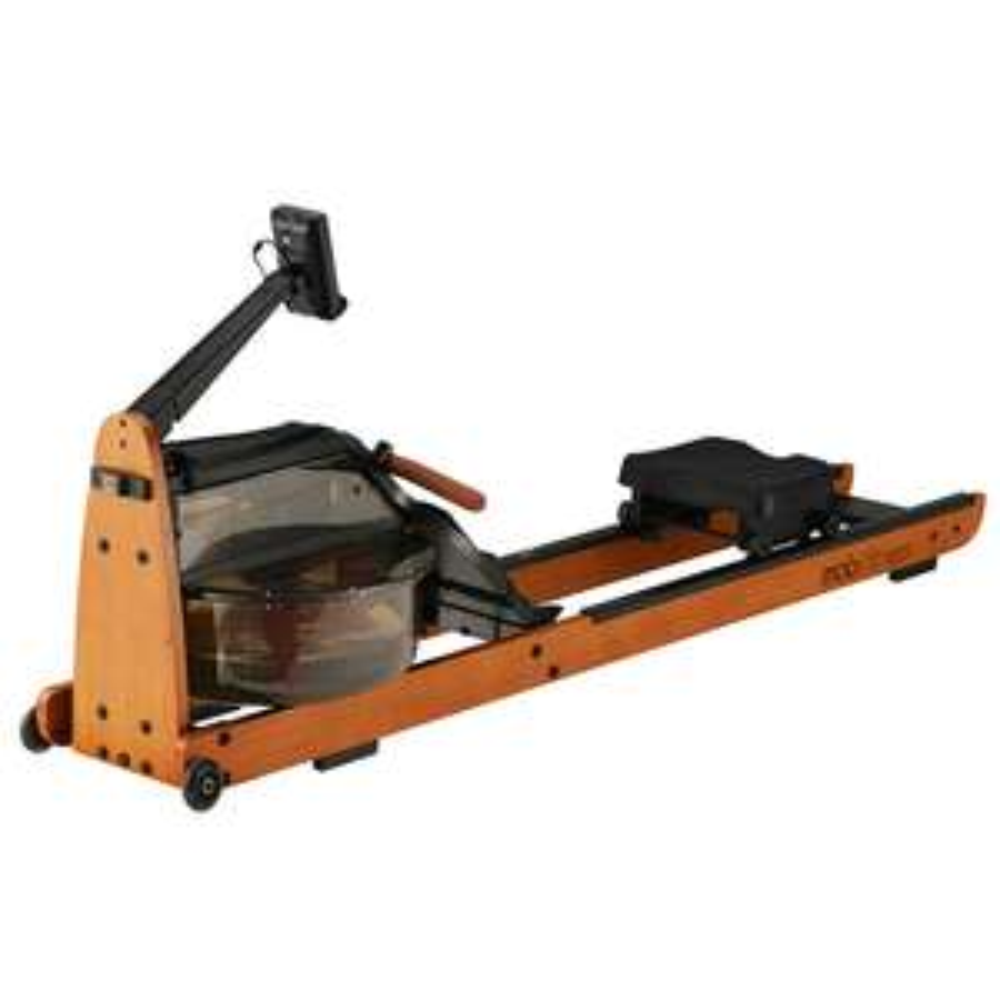 Mobifitness Pro Max Rudergerät / Rudermaschine aus Holz mit Wasserwiderstand - Versand aus der EU