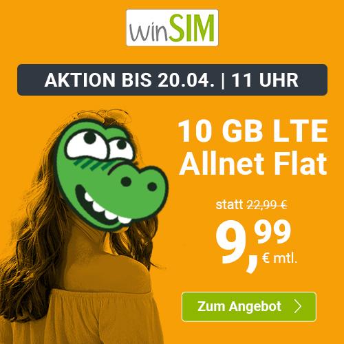 Drillisch KW15 Angebote: 7GB LTE Handyvertrag.de für mtl. 7,99€ I 10GB LTE winSIM für mtl. 9,99€ I 20GB LTE sim.de für mtl. 16,99€