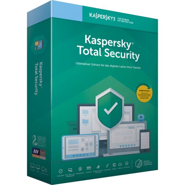 6 Monate kostenlos Kaspersky Total Security für iOS, Android, Windows & Mac (jederzeit / mtl. kündbar, danach 1,99€ / Monat)